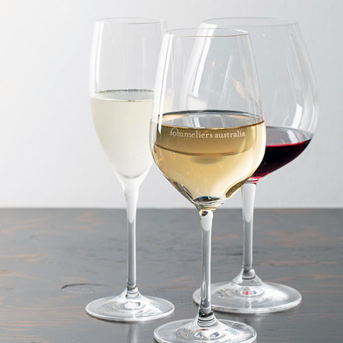 three glasses of varied wine
